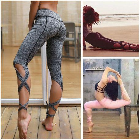 Stunning Cross Cut Yoga Pants