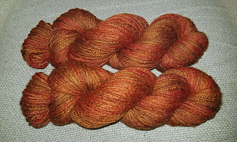 Falling Leaves on 100% BFL (Aran)