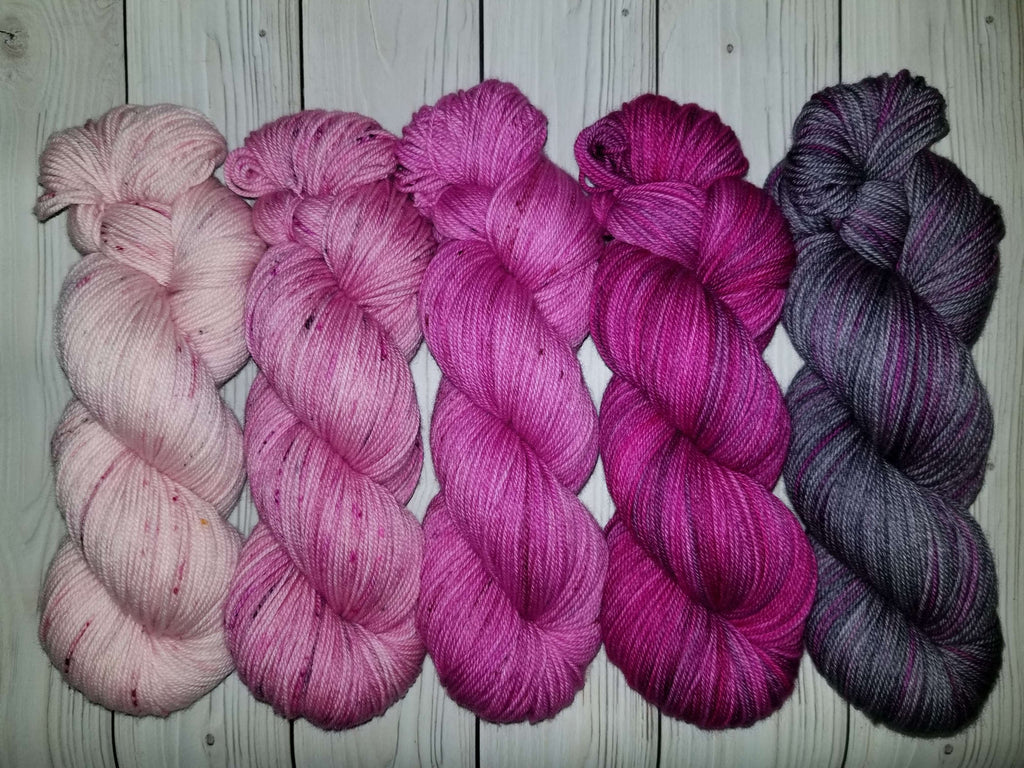 Calm and Wear Pink - Merino/Cashmere/Nylon blend   OOAK