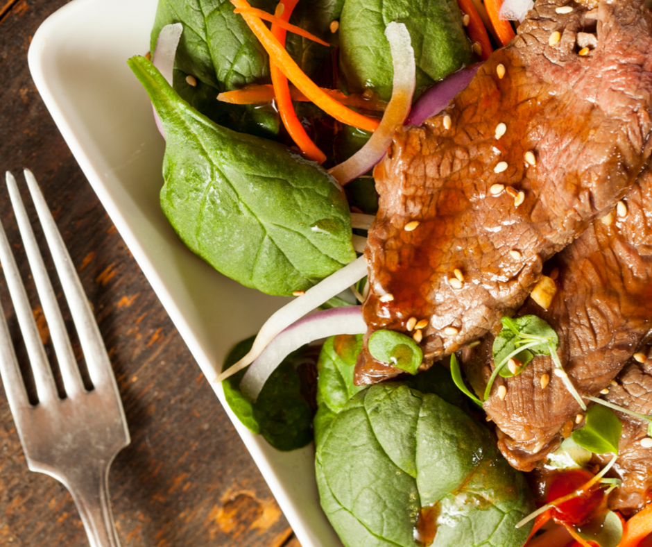 Lori and Warren's Thai Beef Salad featuring Flat Iron Steak