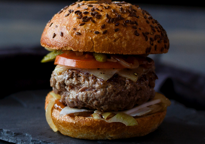 Australia Day Lamb Burger