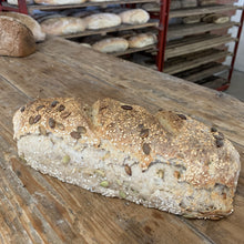 Load image into Gallery viewer, Margaret River Woodfired Bread - Boodji Seeded Sourdough (650g, Yeast Free)