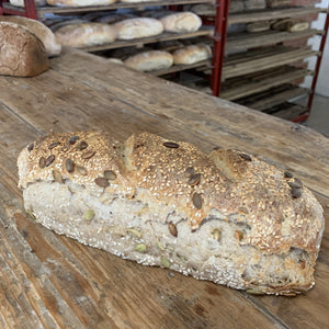 Margaret River Woodfired Bread - Boodji Seeded Sourdough (650g, Yeast Free)