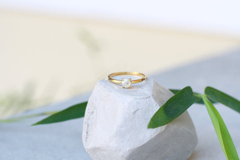 stacking gold ring