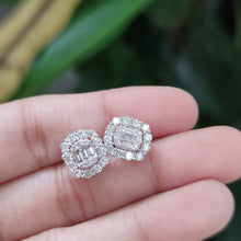 Load image into Gallery viewer, SQUARE DIAMOND EARRINGS