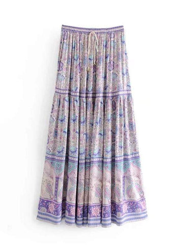 AMETHYST Maxi Skirt - Purple-Skirts- Boheme Junction