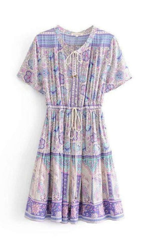 AMETHYST Mini Dress-Dress- Boheme Junction