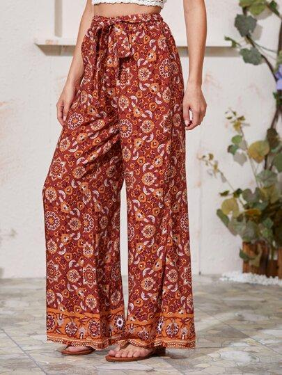 ANTHEA Wide Leg Pants- Boheme Junction