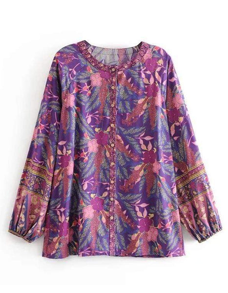 ARIBA Top - Purple-Top- Boheme Junction