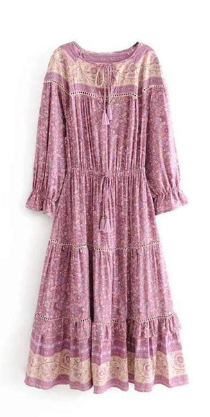 BENNI Midi Dress - Pink-Dress- Boheme Junction