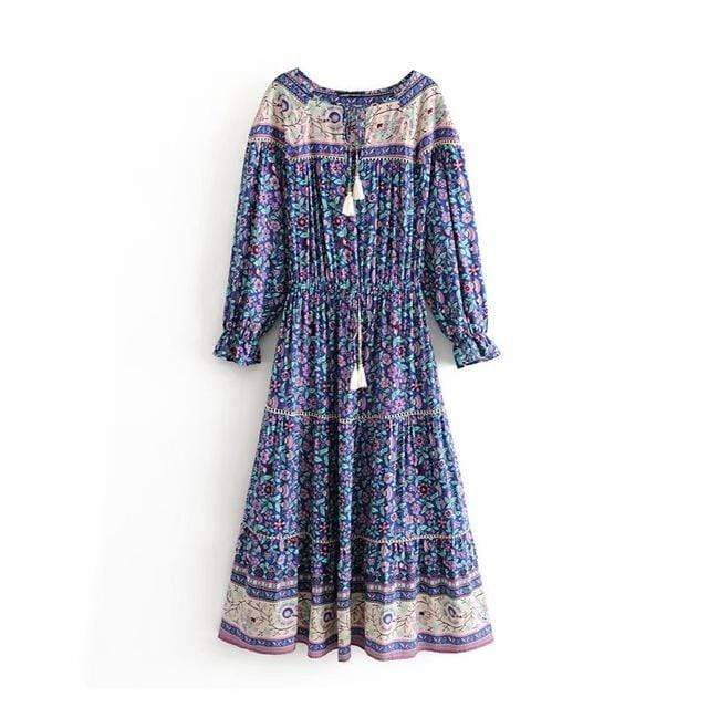 BENNI Midi Dress - Purple-Dress- Boheme Junction