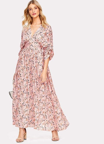 CAMILIA Kimono Maxi Dress-Dress- Boheme Junction
