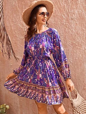 COACHELLA Mini Dress-Dress- Boheme Junction