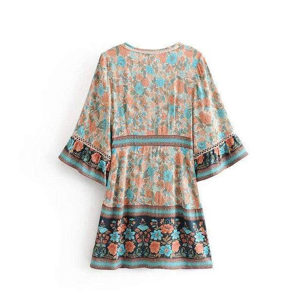 COCO Mini Dress - Ocean-Dress- Boheme Junction