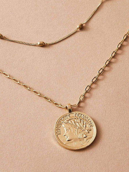 COIN Layered Necklaces-Accessories- Boheme Junction