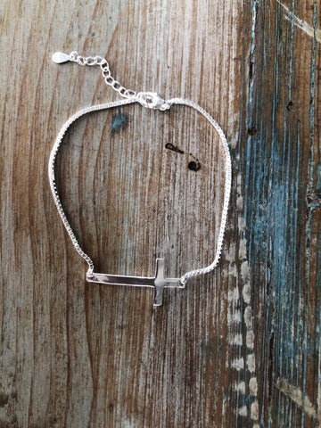 CROSS Silver Bracelet-Bracelet- Boheme Junction