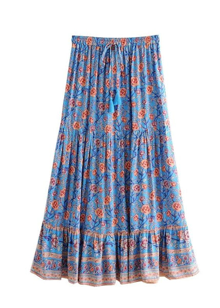 DANDY Midi Skirt - Blue or Black-Skirts- Boheme Junction