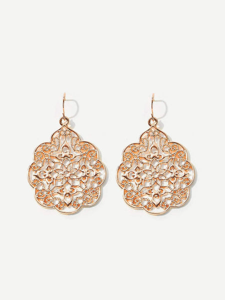 DELHI Rose Gold Earrings-Earrings- Boheme Junction