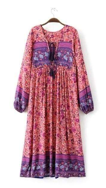 DREAMER Midi Dress - Pink-Dress- Boheme Junction