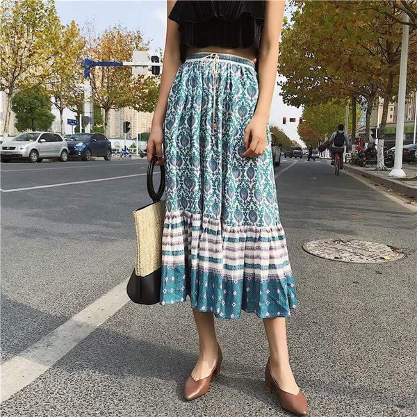 ELISTA Midi Skirt-Skirts- Boheme Junction
