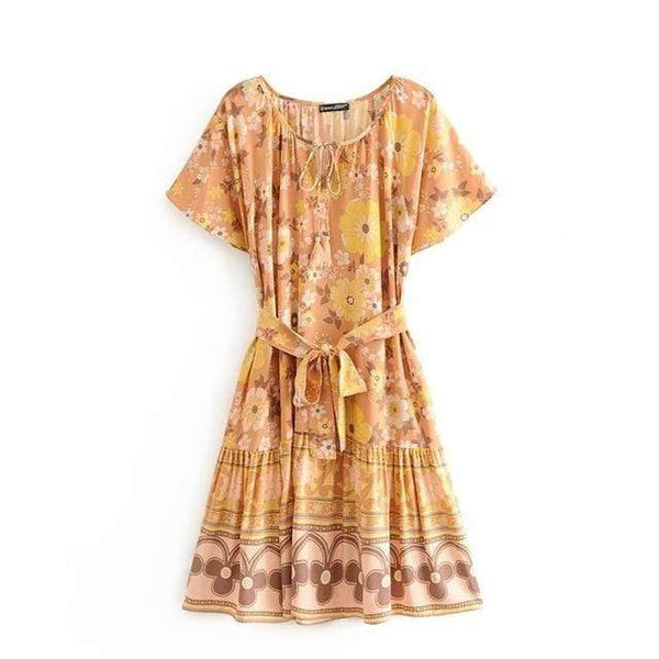 HONEYSUCKLE Mini Dress-Dress- Boheme Junction