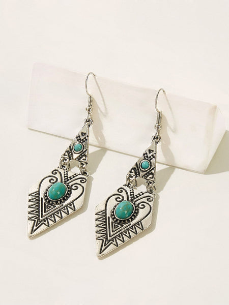 INDI Earrings - Turquoise-Earrings- Boheme Junction