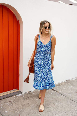 INDIAN SUMMER Midi Dress-Dress- Boheme Junction