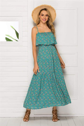 IRIS Maxi Dress - Green-Dress- Boheme Junction