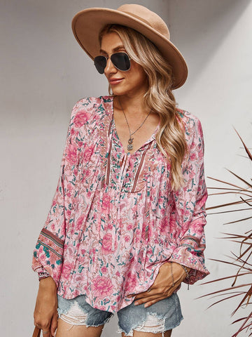 JENNA Blouse - Pink-Top- Boheme Junction