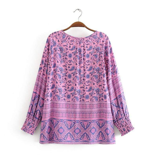 LEILANI Blouse - Purple-Tops- Boheme Junction