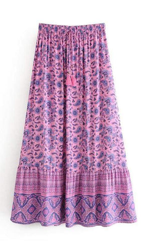 LEILANI Maxi Skirt - Purple-Skirts- Boheme Junction