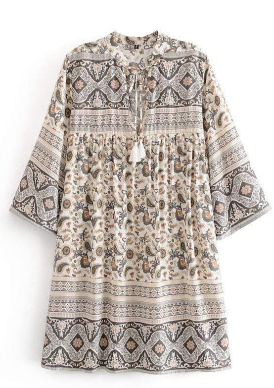 LEILANI Tunic Mini Dress-Dress- Boheme Junction