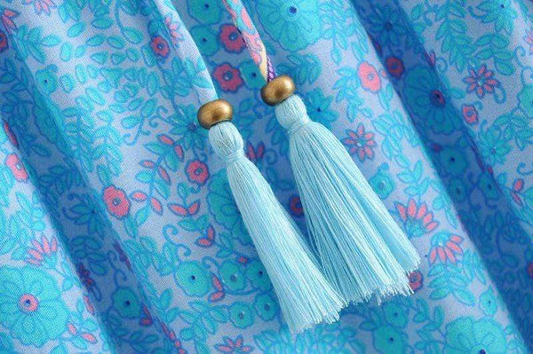 PARADISE Maxi Skirt - Sky Blue or Pink-Skirts- Boheme Junction