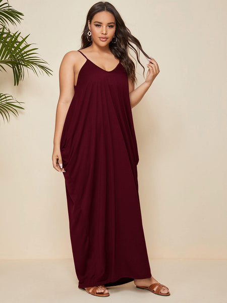 PLUS SIZE Alexi Maxi Dress - Wine-Dress- Boheme Junction