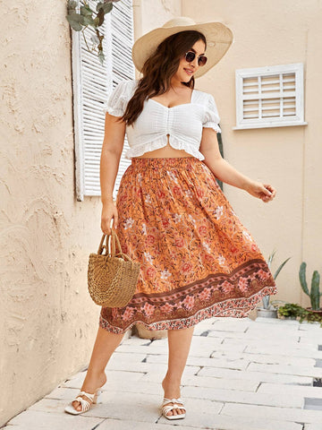PLUS SIZE Anais Midi Skirt-Skirt- Boheme Junction