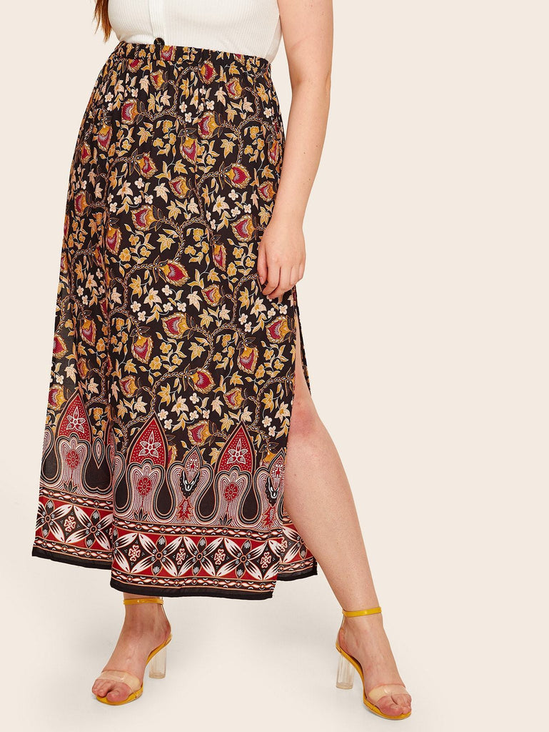 PLUS SIZE Antonio Maxi Skirt - ONE LEFT!-Skirt- Boheme Junction