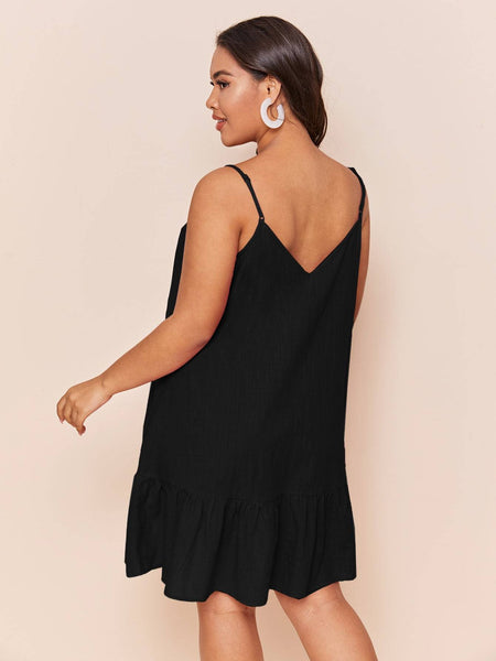 PLUS SIZE Candy Mini Dress - Black-Dress- Boheme Junction