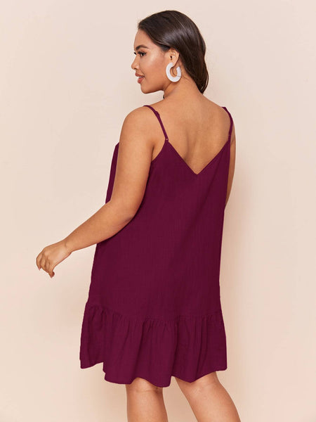 PLUS SIZE Candy Mini Dress - Wine-Dress- Boheme Junction