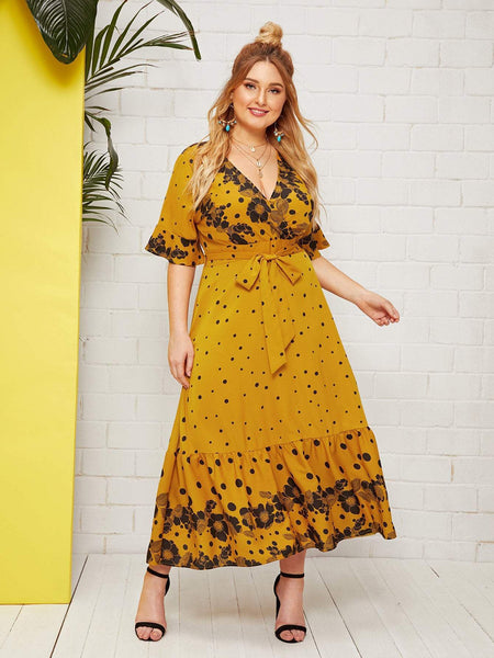 PLUS SIZE Elina Maxi Dress-Dress- Boheme Junction