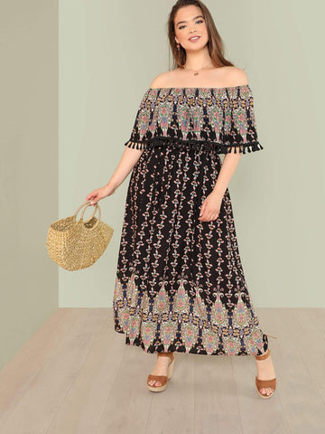 PLUS SIZE Elke Maxi Dress-Dress- Boheme Junction