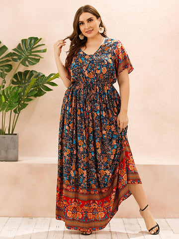 PLUS SIZE Frankie Maxi Dress-Dress- Boheme Junction
