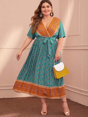 PLUS SIZE Izara Maxi Dress-Dress- Boheme Junction
