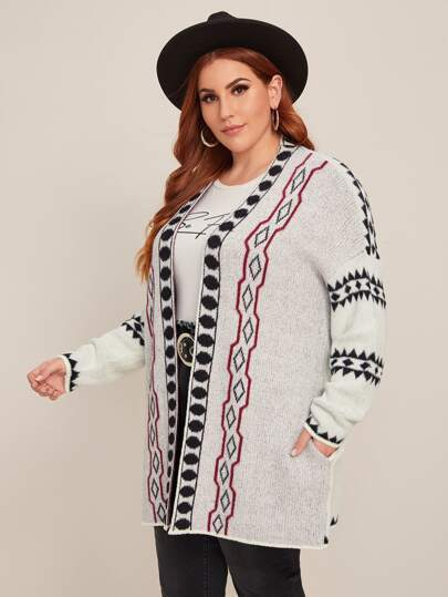 PLUS SIZE Kylah Cardigan-Cardigan- Boheme Junction