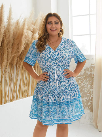 PLUS SIZE Maura Midi Dress - ONE LEFT!-Dress- Boheme Junction