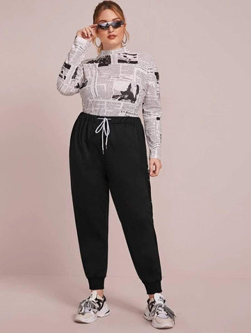 PLUS SIZE Nash Lounge Pants-Pants- Boheme Junction