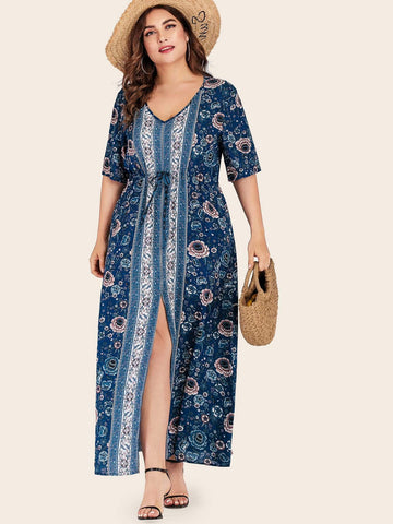PLUS SIZE Positano Maxi Dress-Dress- Boheme Junction