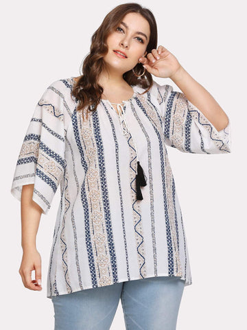 PLUS SIZE Rene Blouse - ONE LEFT-Top- Boheme Junction