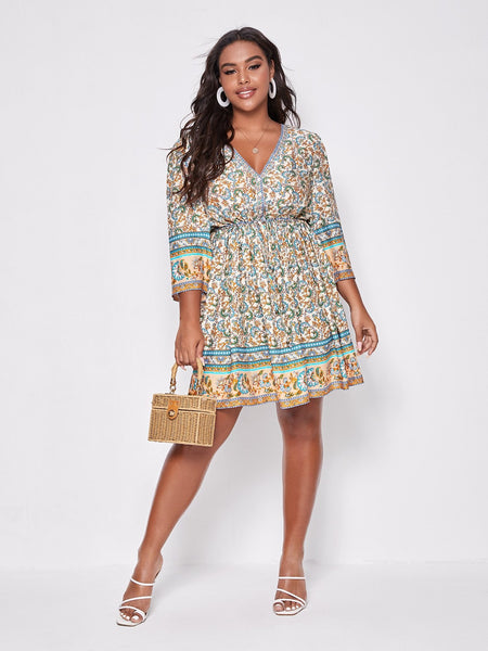 PLUS SIZE Sybil Mini Dress-Dress- Boheme Junction