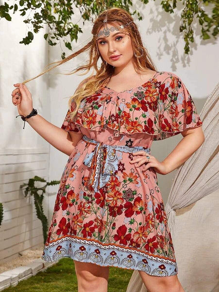 PLUS SIZE Taurus Mini Dress-Dress- Boheme Junction