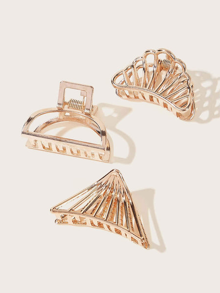 TRINITY Hair Clip Set - Rose Gold-Accessories- Boheme Junction